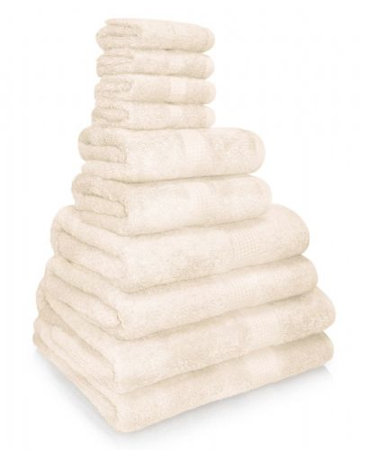 100% EGYPTIAN COMBED COTTON SUPER SOFT 650gms HOTEL QUALITY TOWELS CREAM COLOUR